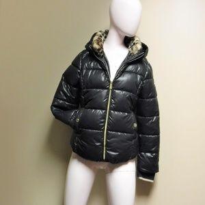 Michael Kors Black Puffer Style Jacket Size 16